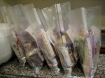 Meals Lined up ready for Vacuum Sealing